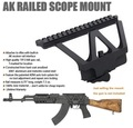 Quick Detach AK Gun Rail Scope Mount Base Picatinny Side Rail Mounting For AK 47 AK 74 Black Tan Free Shipping