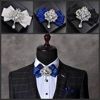 Neues Freies Verschiffen mode lässig männer männlich bräutigam groomsman kragen bogen blume Koreanischen Kopfschmuck frauen kleid krawatte krawatten auf verkauf