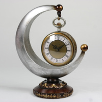 Meijswxj Retro Desktop Clock Saat Reloj Bracket Clock Relogio Reloj despertador Pendulum Table Clocks Masa saati Relogio de mesa