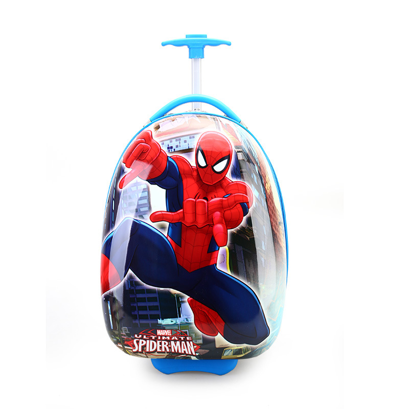 все цены на Rolling Bag Children Hard Shell Luggage Suitcase Boy and Girl Cartoon Suitcase Student ABS Trolley Wheeled Kids Luggage