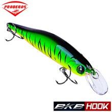 Proberos Fishing Lures 11cm Bait 11g Minnow 6 Color Tackle 6# Hook Swimbait