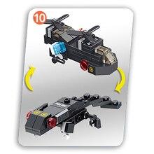 City Engineering Crane Truck Forklift Robot Car Helicopter Warplane Police Boat Plastic Building Block Gift Toy For Children Boy