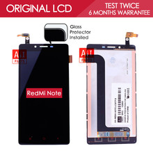 100% Tested Original Black TFT 1280×720 Display For XiaoMi RedMi Note 4G LTE LCD Touch Screen Digitizer Assembly WCDMA