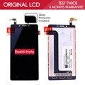 100% testado original preto tft 1280x720 exibição para xiaomi redmi note 4g lte wcdma lcd touch screen digitador assembléia