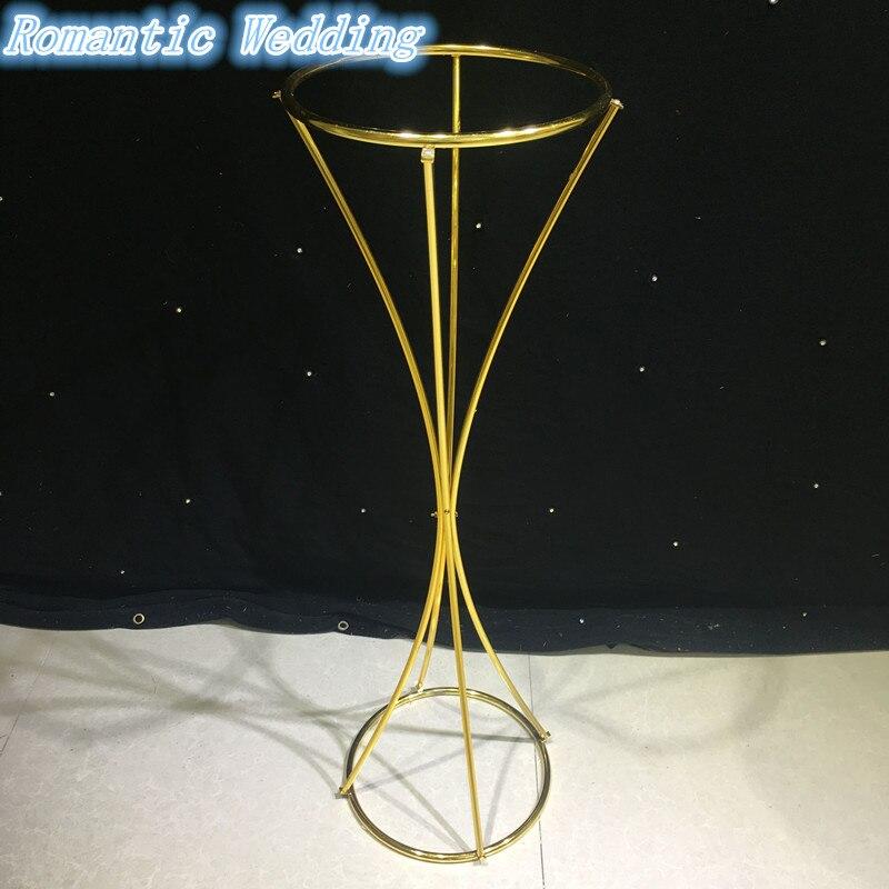 Métal or fleur Stand pour les mariages Table pièce maîtresse mariage décoration matériel fleur Vase or 10 pcs/lot pour livraison gratuite - 2
