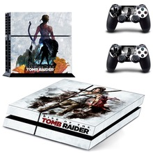 Game Rise of Tomb Raider PS4 Skin Sticker Decal Vinyl for Sony Playstation 4 Console and 2 Controllers PS4 Skin Sticker