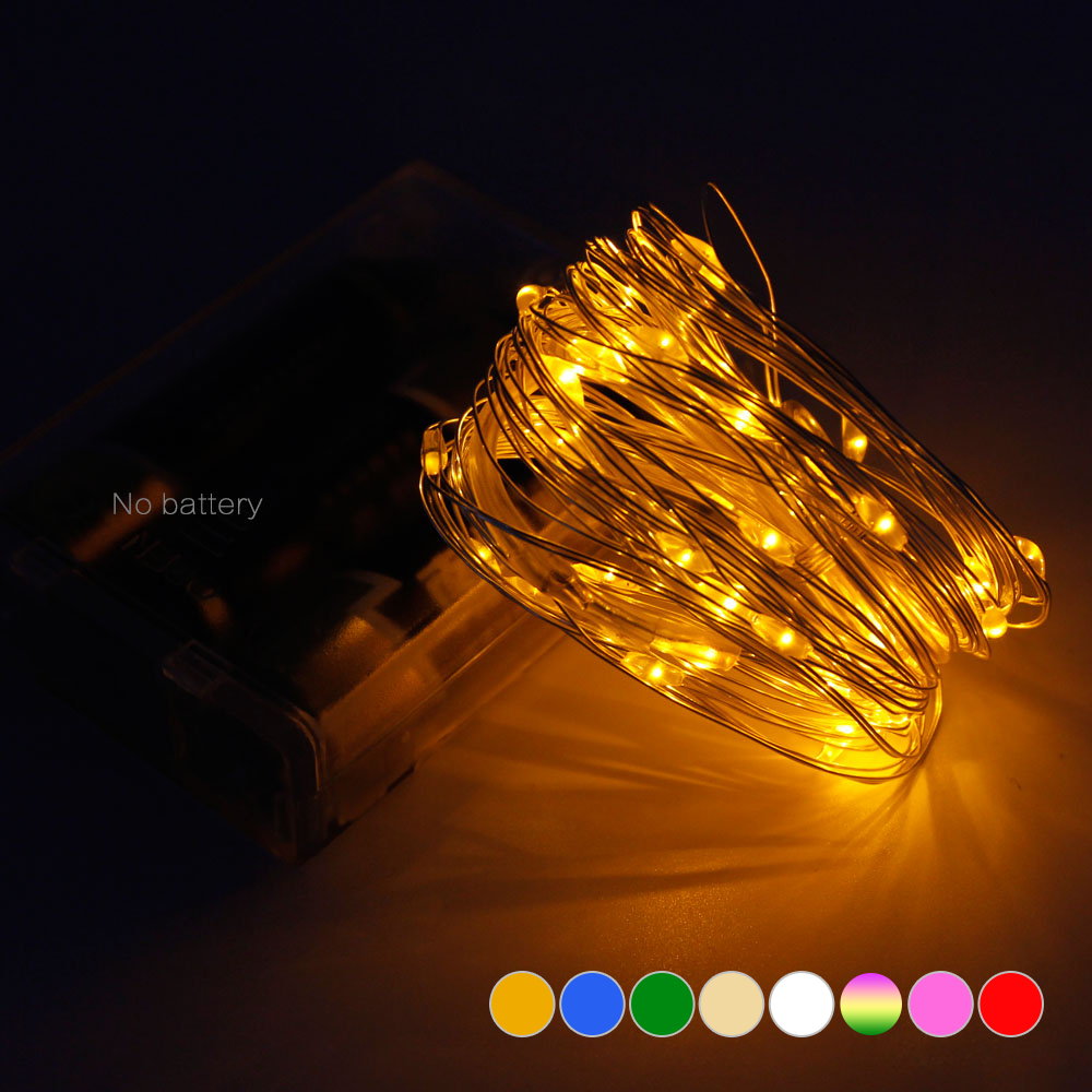 Long Lifespan LED String Lights 5M 50 LED For Christmas Festival Wedding Party Holiday ...