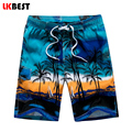 LKBEST Fashion Summer Men's board shorts Casual loose Beach shorts quick dry men swimwear shorts plus size M-5XL N1701