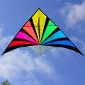 Venta caliente Nylon Cometa Cometas Parafoil Rainbow Triángulo Cometas Parapente Cerf Volant Pipa Voadora Vlieger Kite Flying Barriletes
