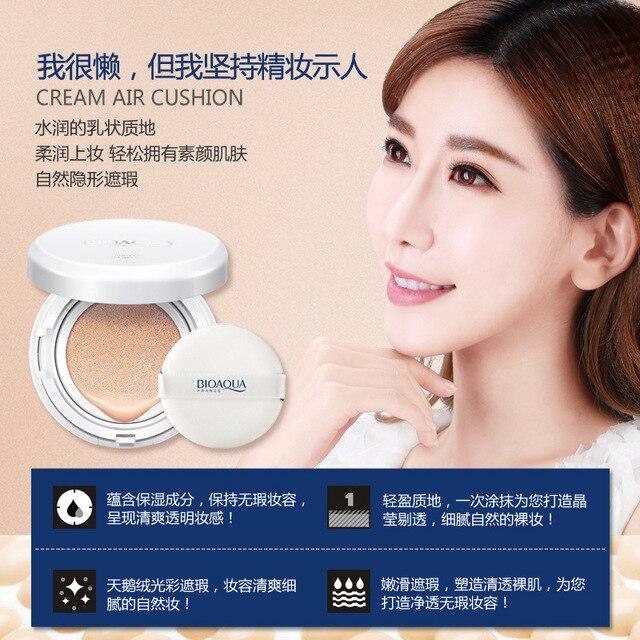 BIOAQUA Air Cushion BB Cream Isolation BB Nude Concealer Oil Control Moisturizing Liquid Foundation CC Cream 2