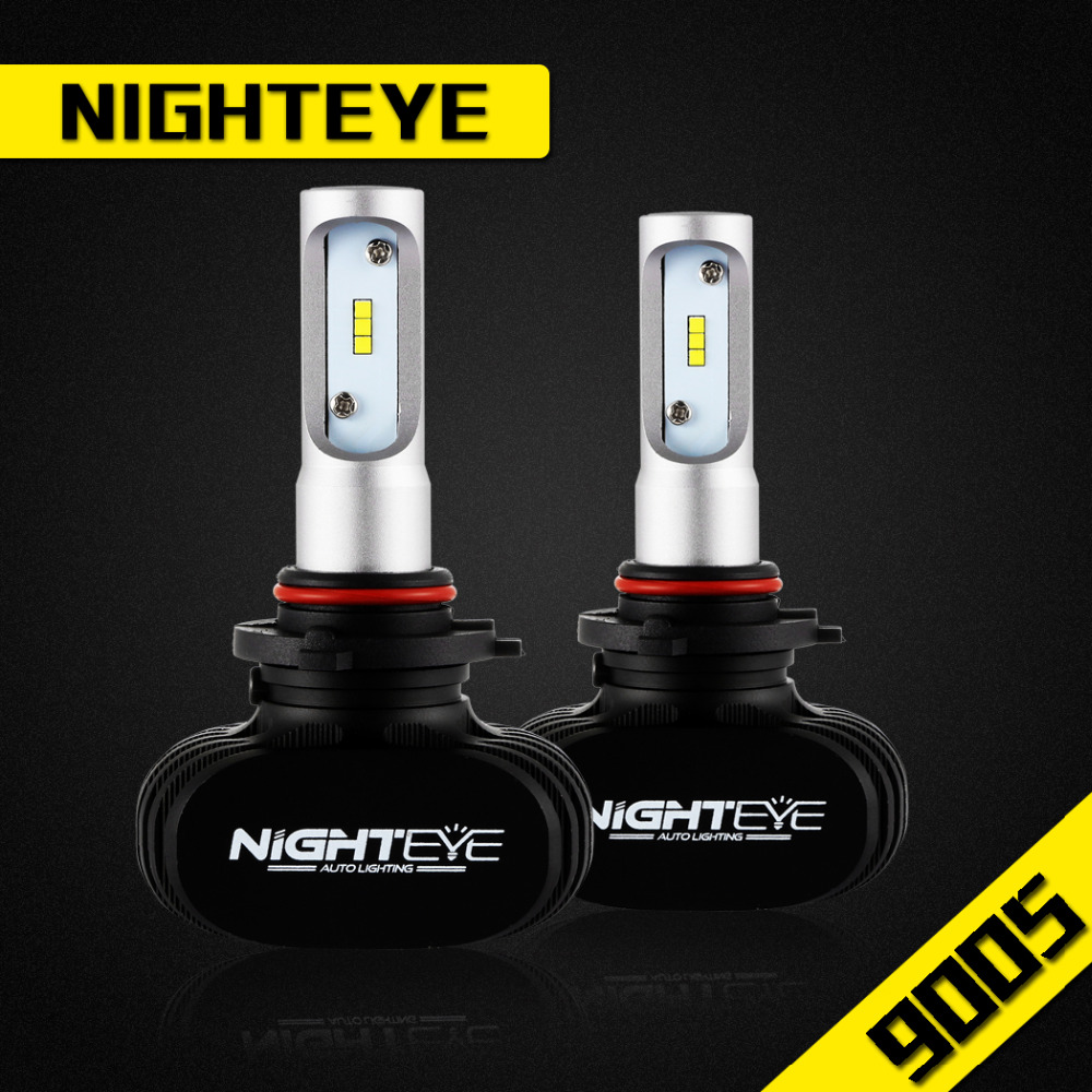 NIGHTEYE Super Bright COB LED Headlight 25W A315 All In One Car LED Headlights Bulb Fog Light Pure White 6500K Car Head Lamp