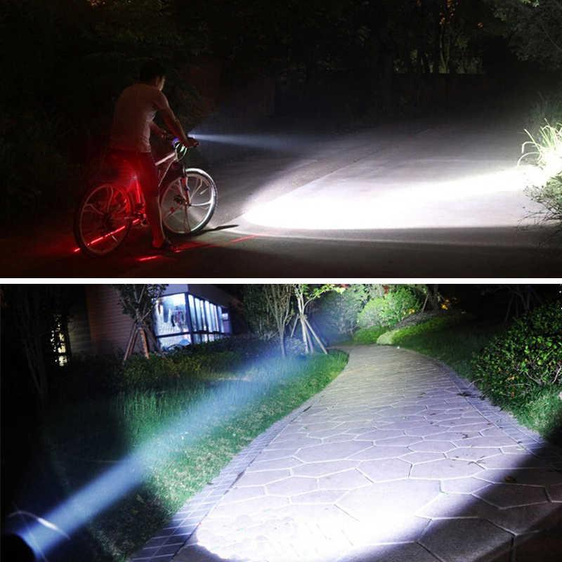 Велоспорт велосипед света T6 светодиодный велосипедов свет лампы Водонепроницаемый Факел фар + Факел держатель