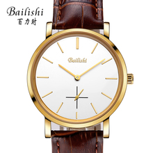 Bailishi Luxury Lovers Couple Watches Men Date Day Waterproof Women Gold Stainless Steel Quartz Wristwatch Montre Homme HOT