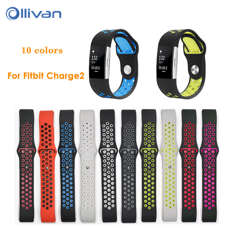 Colorful Band for Fitbit Charge 2 Sport Silicone Band Strap For Fitbit Charge 2 Bracelet Smart Wristbands Smart Accessories