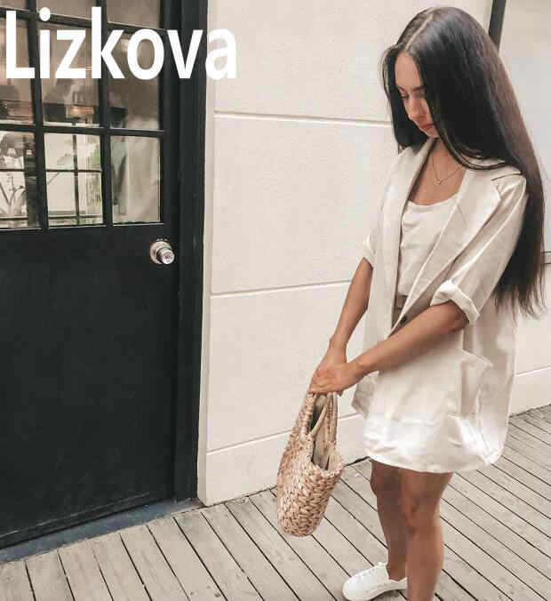 2019 Spring Summer New Korean Chic Suits Loose Blazer+Camis+Shorts 3PCS Suits For Women Causal Fashion Streetwear