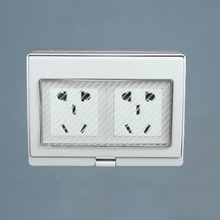 250V10A IP55 Report CE Wall Waterproof Dust-proof Power Socket,  Electrical Weather Resistant Outdoor Outlet Grounded