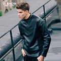 Viishow Brand Baseball Jacket Men Windbreaker Leather Jacket Pullover Men's PU Motorcycle Casual Winter Jackets Coats J128853