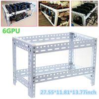 6 7 8 GPU Coin Open Air Mining Miner Frame Rig Case Holder Steel Shelf Ethereum