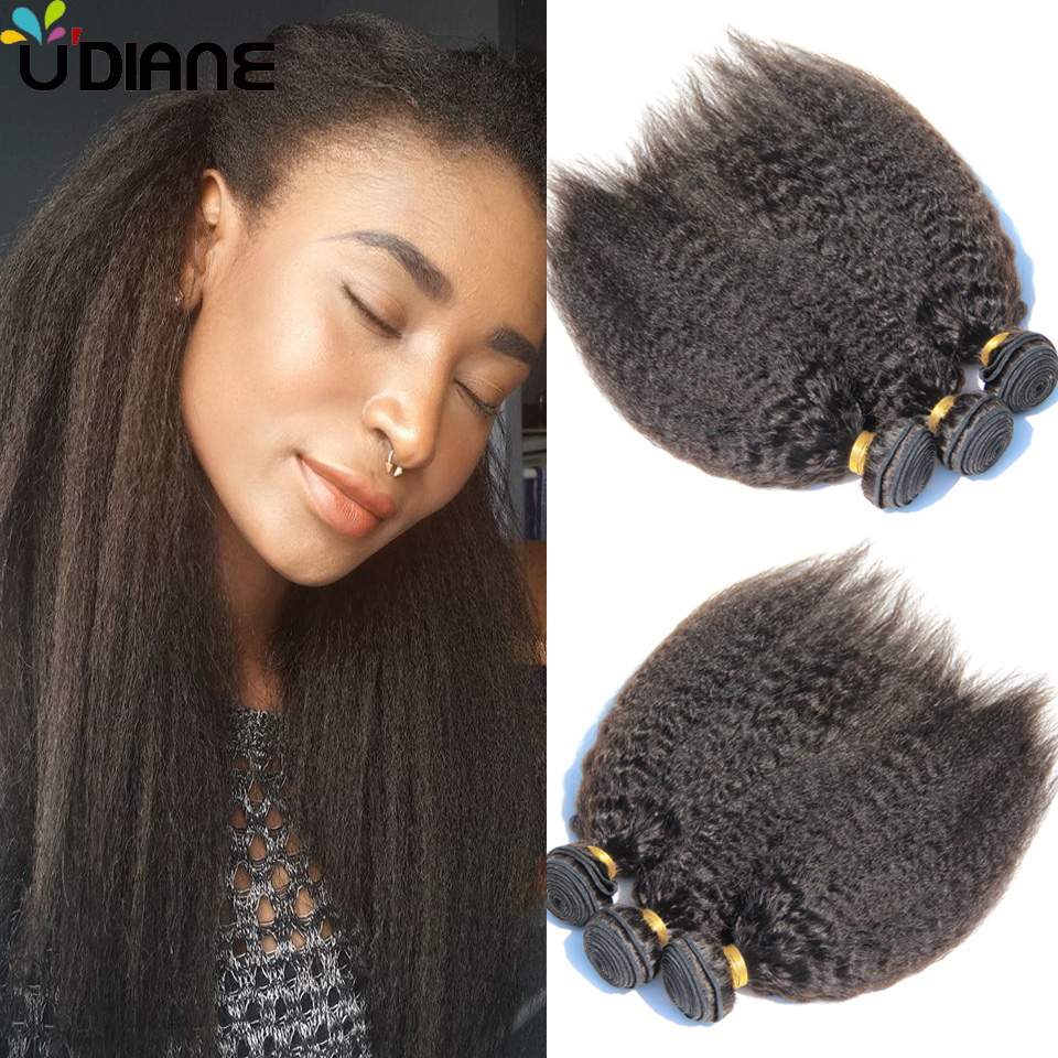 Cheap Yaki Straight Human Hair Bundles Indian Kinky Straight Virgin