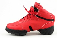 new arrival hot sale Brand Women's men's Modern sport Hip Hop Jazz Dance Sneakers Shoes Salsa red color free shipping WZJ