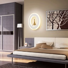 Modern LED Wall Light 15W 85-265V LED Diode Glass Wall Lamp With Eiffel Tower Foyer Living Room Bedroom Bedside Decor Lighting