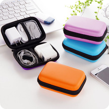 Fashion Portable Mini Storage Bag Square Case Earbuds Headphone SD Card Hold Carrying Hard Earphone
