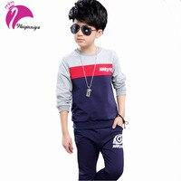 Baby Boy Tracksuit Jacket Pants Children Clothing Set Patchwork Cotton Autumn Sports Suits Sportswear 2 Pcs