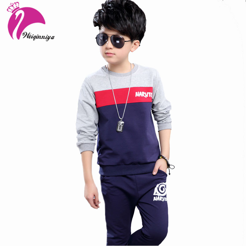 Baby Boy Tracksuit Jacket + Pants Children Clothing Set Patchwork Cotton Autumn Sports Suits Sportswear 2 Pcs Outfits