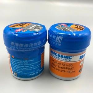 Image 3 - Lot de 5 pâtes à souder pour mécanicien Sn63/Pb37 25 45um XG 50 (MCN 300) XG 500 (XG 50), nouvel emballage