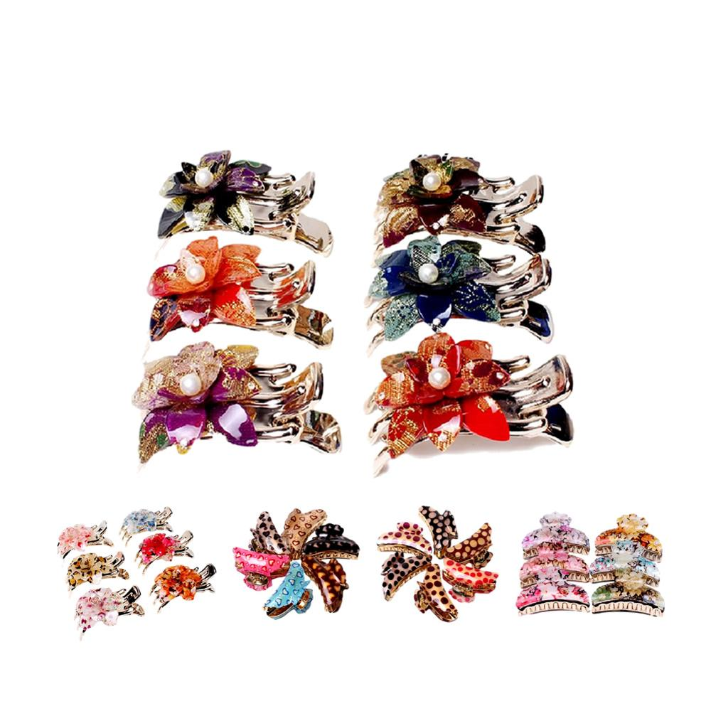 Flower Leopard Octopus Resin Hair Clips Claw Barrette Crab Clutcher Crab Jaw Barrettes Hairpin Clamps Clasps Pin Accessories in Women 39 s Hair Accessories from Apparel Accessories