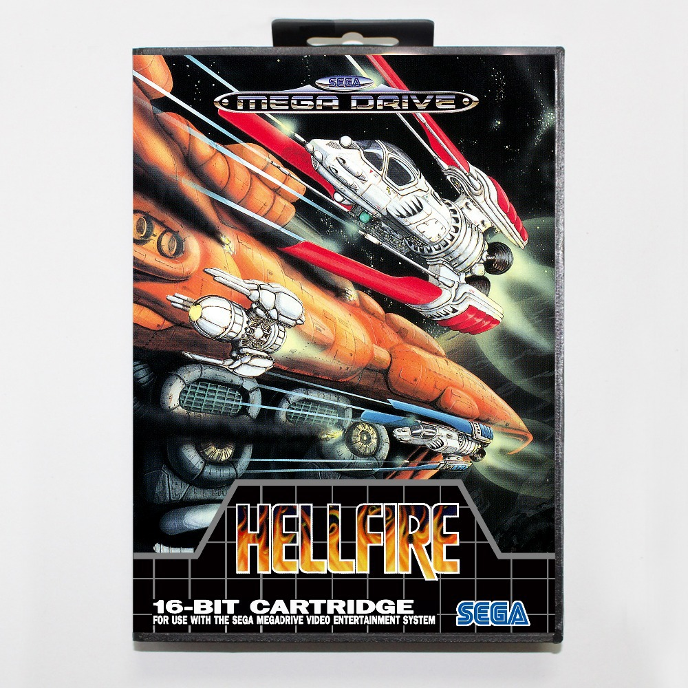 16 bit Sega MD game Cartridge with Retail box – Hellfire game cart for Megadrive for Genesis system