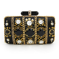 Women Wedding Purse Big Black Rhinstone Bags Hot Sales Party Handbags Lady Clutches Small Evening Clutch