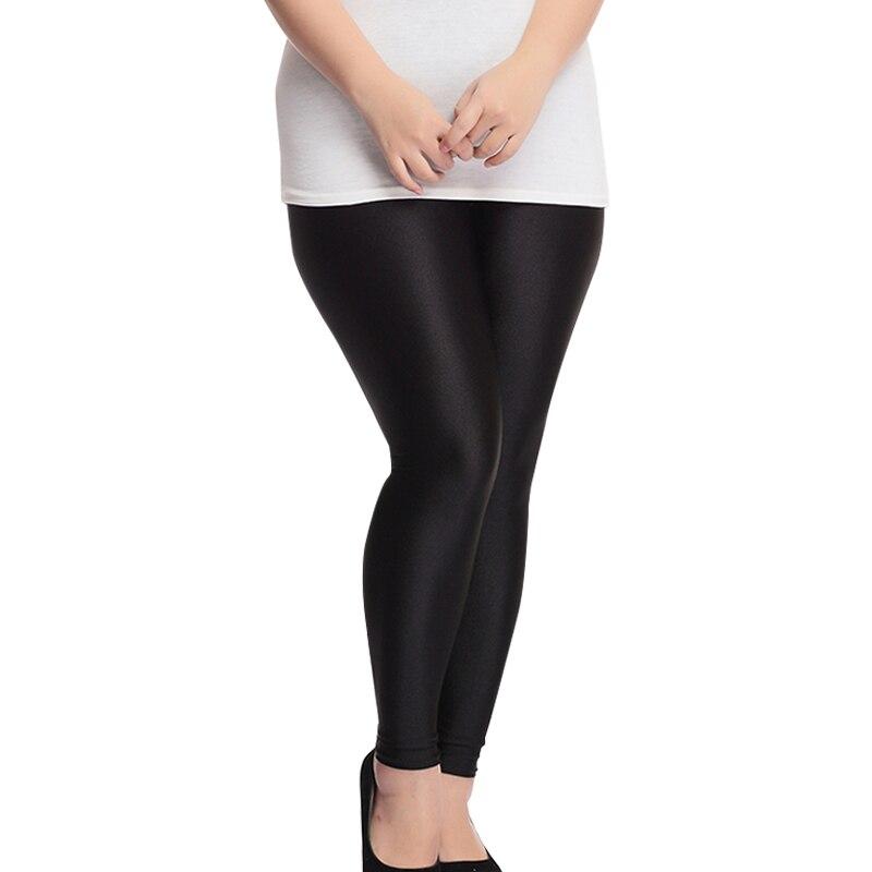 42b164f3984da4 S XXL Size Women Shiny Black Legging Autumn Ladies Push Up Slim Leggings  High Waist Stretchy Soft Large Size Women Legging-in Leggings from Women's  Clothing ...