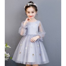 Baby Girls Dresses 2019 Summer New Girls Princess Dress Children Clothes Fluffy Dress Party Dresses 3-8Y Girls Gifts new design embroidered flower navy blue baby kids girls princess dress kids summer party dress clothes 3 8y