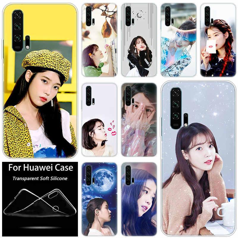 Hot IU Kpop Kawaii Girl Singer Silicone Case for Huawei Honor 20 8A 7A Pro 10 9 8 Lite View 20 7S 8S 8X 7X 6X 8C 20i 10i Play