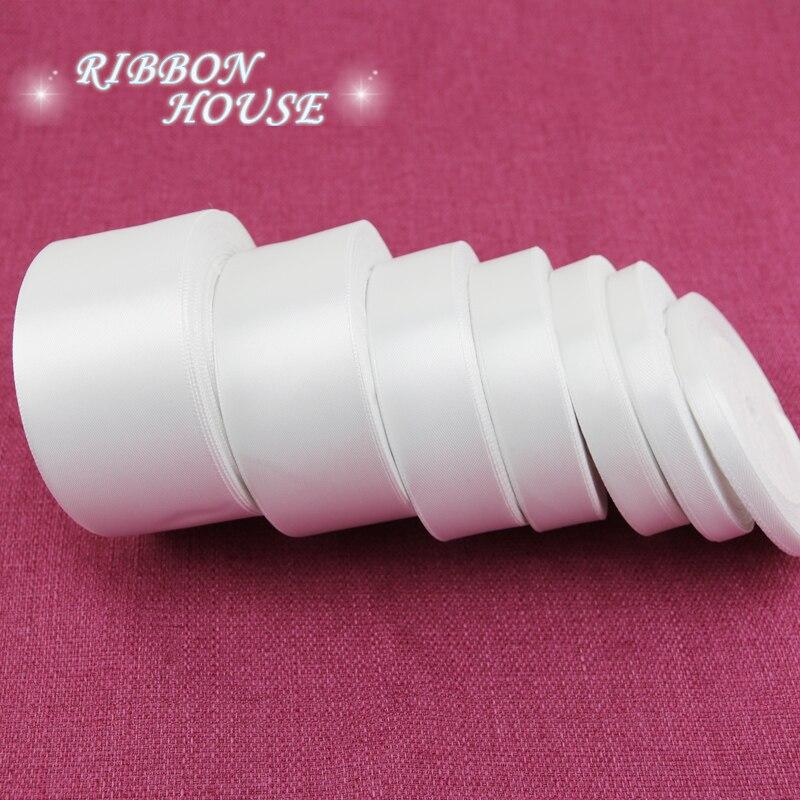 (25 ярдов/рулон) белая атласная лента с одним лицом оптовая продажа подарочная упаковка рождественские ленты