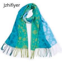 jacquard scarf capes dots pashmina kashmir shawls scarves bandana polyester feminino inverno mujer stoles wraps scarfs