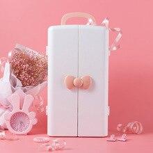 Коробка для хранения косметики, пластиковый стол, туалетный столик, уход за кожей, отделочная коробка, подставка для помады принцессы