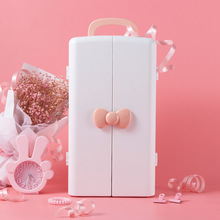 Caixa de armazenamento de cosméticos, armário de mesa de plástico, penteadeira, cuidados com a pele, caixa de acabamento batom da princesa rack.