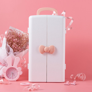 Image 1 - Kozmetik saklama kutusu, plastik masa dolabı, tuvalet masası, cilt bakım ürünü bitirme kutusu, Prenses ruj rafı.