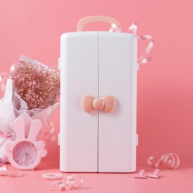 Kozmetik saklama kutusu, plastik masa dolabı, tuvalet masası, cilt bakım ürünü bitirme kutusu, Prenses ruj rafı.