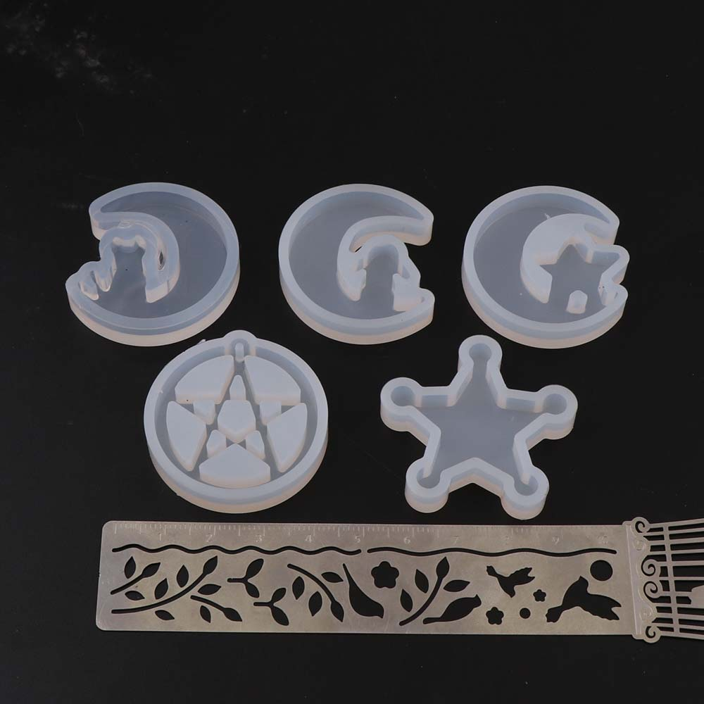 1PC Silicone Resin Mold For Jewelry Making Moon  Half Cat Star Tears Transparent Silicone Mold For Woman DIY Pendant Jewelry