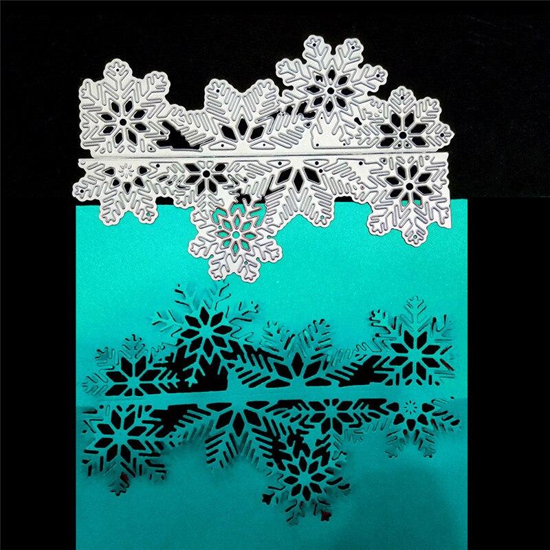Christmas Snowflake Cutting Dies Metal Cutting Dies Stencils Die Cut for DIY Scrapbooking Album Paper Card Embossing DiesWJ042 diy carbon steel oval frame cutting dies