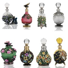 H&D 23 Kinds Antiqued Style Glass Refillable Perfume Bottle Figurine Retro Empty Essential oil Container Home Wedding Decoration