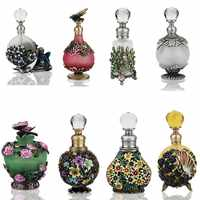 H & D 25 tipos de vidrio estilo envejecido botella de Perfume recargable estatuilla Retro vacío contenedor de aceite esencial hogar Decoración de la boda