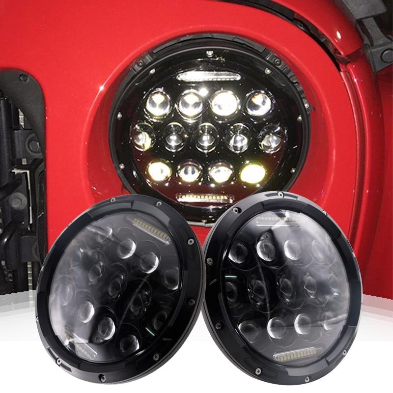 7 inch 75W Round High Low Beam 12V 24V LED Headlight headlamps For Jeep Wrangler JK Offroad 4x4 Hummer Landrover Defender