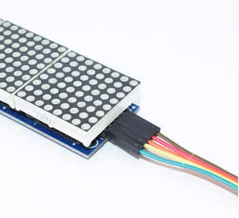 10PCS MAX7219 dot matrix module microcontroller module 4 in one display
