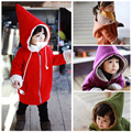 wholesale-5pcs/lot 2013 winter new fashion girls high quality thick sherpa pointy hat Little Red Riding Hood jacket package hip