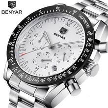 купить Men's Watches BENYAR New Casual Fashion Chronograph Stainless Steel Watches Men high Quality business Quartz Male Wristwatch по цене 1692.76 рублей