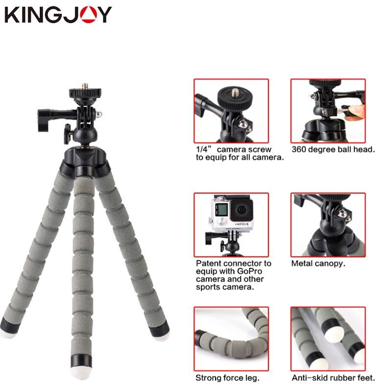 Kingjoy KT-600S Mini Trípode Pulpo Para Móvil Flexible Tripe - Cámara y foto - foto 3